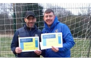 March 2018 - Darren Crompton & Dave Beattie, Volunteer Football Coaches